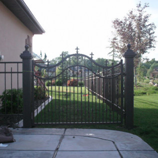 iron fence entry