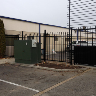 security fence install